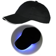 2017 New Women Men LED Light Baseball Cap Glow At Night Club Party Hat Stage Performance Cap Glow In The Dark(China)