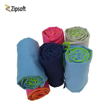 Zipsoft brand 2017 Sports Towel Gym Towel 75x135cm Beach towel for adult Large Size Microfiber Swimming Travel Hotel Camping New(China)