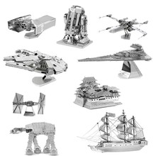2017 New 3D Scale Models Puzzle Toys Maquetas Star Wars Metal Building Kits DIY Metallic Nano Puzzle Gift Millennium Falcon Toys