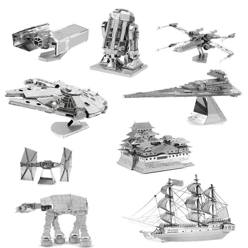 2017 New 3D Scale Models Puzzle Toys Maquetas Star Wars Metal Building Kits DIY Metallic Nano Puzzle Gift Millennium Falcon Toys(China (Mainland))