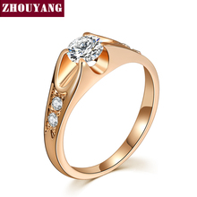 Buy Top ZYR249 Cubic Zirconia Wedding Jewelry Ring Rose Gold Color Women Austrian Crystal Full Sizes Wholesale for $1.41 in AliExpress store
