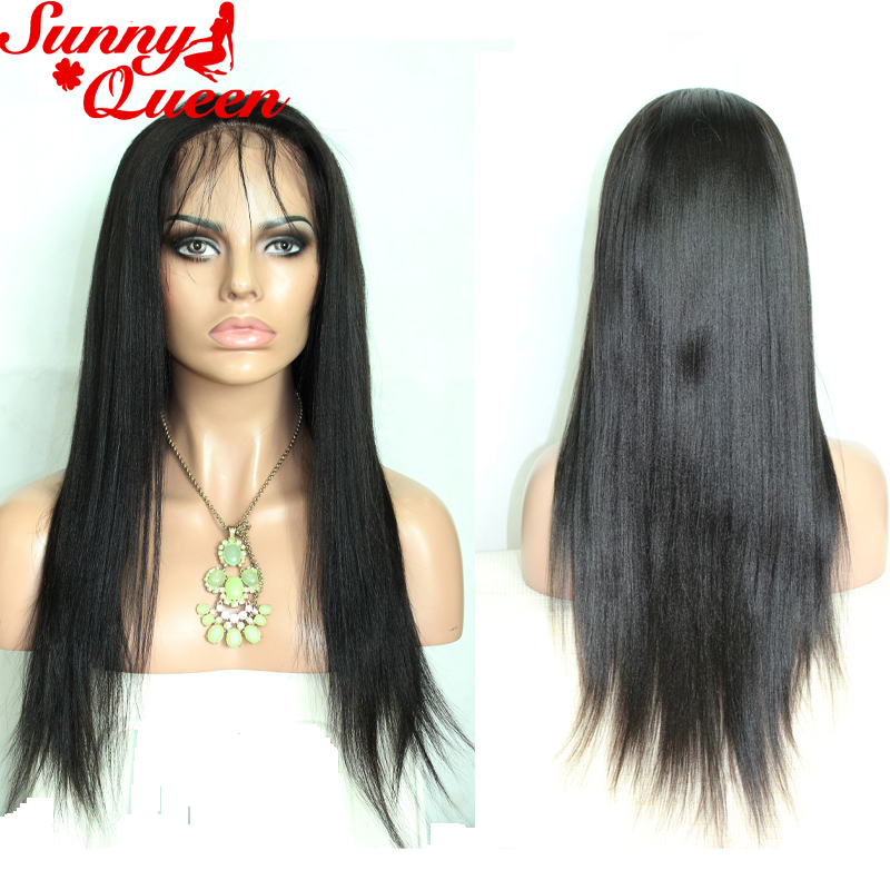 Lace Front Human Hair Wigs Eurasian Straight Virgin Hair Frontal Lace Wig Full Lace Human Hair Wigs For Black Women Top Quality<br><br>Aliexpress