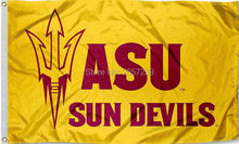 ASU SUN DEVILS YELLOW Flag 3x5FT NFL banner150X90CM 100D Polyester brass grommets custom flag, Free Shipping(China)
