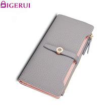 DIGERUI Wallet ovely Leather Long Women Wallet Girls Change Clasp Purse Money Coin Card Holders Wallets Carteras A1489(China)