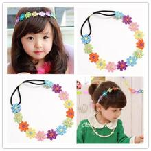 Floral Head Wreath Embroidered Headband Summer Style Flowers Kids Hair Accessories Tiara De Cabelo#121