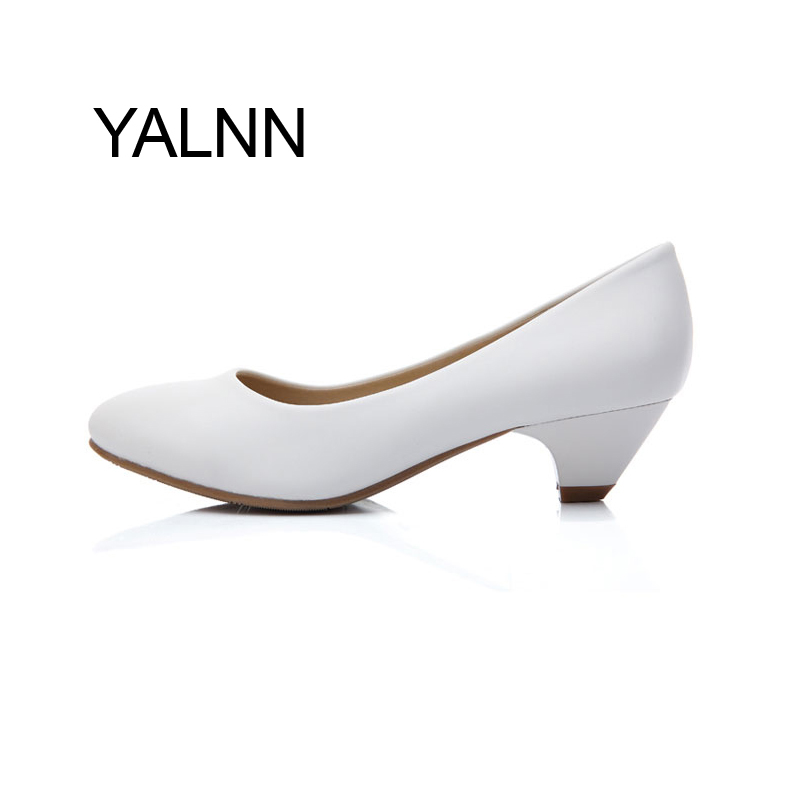 Black Fashion 3CM High Heels Pump Mature Women Shoes Dress Pointed Toe Office Lady Dress Pumps for Girls<br><br>Aliexpress
