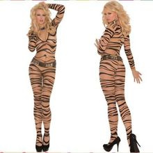 2017 Hot Sale Sexy Fresh Zebra Print Lingerie Women Body Stockings Female sex products bodystocking A79590(China)