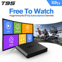 European IPTV Box T95X Android TV Box IPTV Receiver 1300 French Turkish Netherlands Channels Android TV Box(China)
