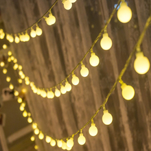 10m LED String Lights Cherry Ball  Curtain Garland Lamps fairy wedding Indoor Outdoor Christmas Holiday Lighting Luminarias