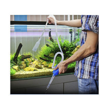 Siphon vacuum water pump gravel cleaner aquarium filter clear tool