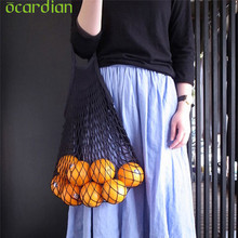 Ocardian organizer Mesh Net Turtle Bag String Shopping Bag Reusable Fruit Storage Handbag Totes u70607 DROP SHIP