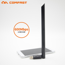 10Pcs/lot comfast CF-916AC wi fi Adaptor 600M 802.11AC Wireless USB WiFi Adapter 5G Network Card with wi-fi antenna for win7/xp