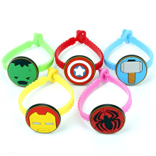 1 Piece Creative Cartoon Cute Iron Man Hulk Thor Captain America Cosplay Party Favor Supplies Souvenir Kids Hand Decor Wristband