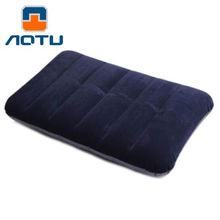New Outdoor Portable Folding Air Inflatable Pillow Travel Camping Air Sleep Bag Pillow Airplane Table Nap Back Mat Free Shiping(China)