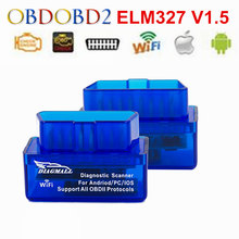 Diagmall WiFi ELM327 V1.5 Auto Diagnostic Tool ELM327 WIFI  Support All OBDII Protocols Code Reader Scanner For Multi Brand Cars