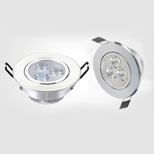 10PCS 3W LED Ceiling Light Dia 85cm Cut Hole 70cm Recessed LED Ceiling Spot Down Light Silver Aluminum Lamp