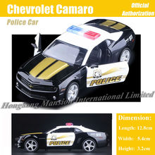 1:36 Scale Diecast Alloy Metal ForPolice Car Model For Chevrolet Camaro Collectible Model Collection Pull Back Toys Sports Car