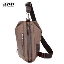 Sky fantasy fashion canvas unisex casual cross-body messenger bag with Headphone cable hole vogue chest bag vintage men knapsack