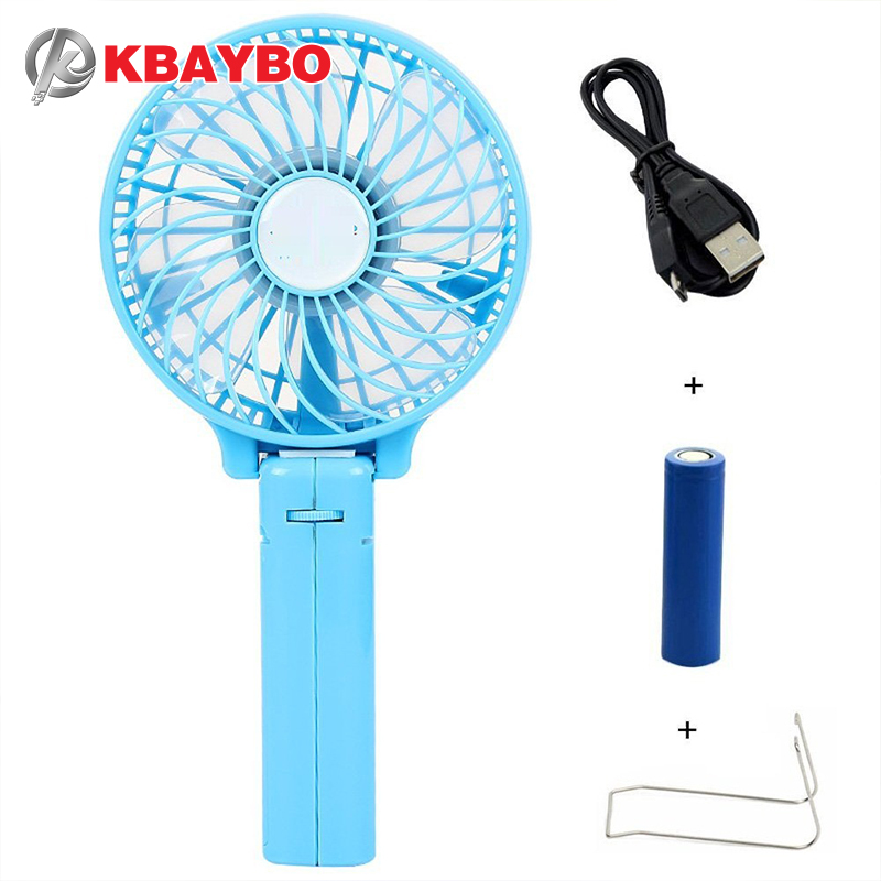 Foldable Hand Fans Battery Operated Rechargeable Handheld Mini Fan Electric Personal Fans Hand Bar Desktop Fan<br><br>Aliexpress