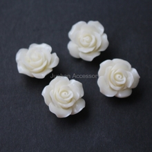 5Pieces 25mm Camelia Synthetic Coral beads Large Coral flower  beads Cabochon Beige  color for Jewelry making