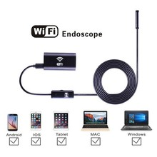 HD 8mm Lens Waterproof PC Android Endoscope Camera with 5m Cable Handheld Inspection Borescope Car for Android Phone PC Tablet