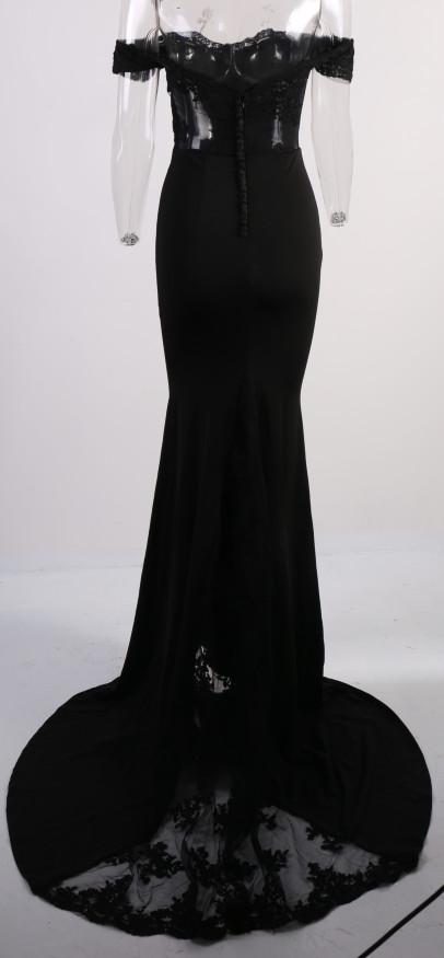 فستان سهرة  Missord جذاب مع ذيل وذو تصميم مميز 24