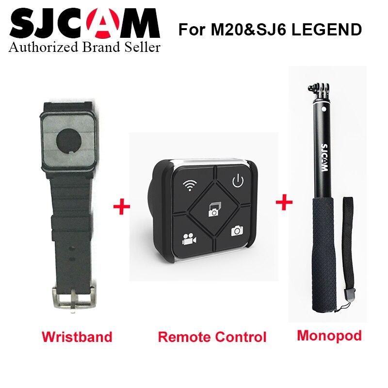 SJCAM SJ7 Star Accessories Waterproof Handheld Selfie Stick Monopod +Wrist Band WiFi Remote Control for M20 SJ6 SJ7 Star Remote <br>