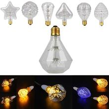 E27 220V Edison Bulb LED Light Warm White Pineapple/Strawberry/Grenade Shape