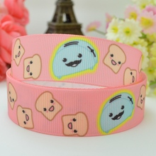"Free shipping 7/8"" 22mm bread maker Printed grosgrain ribbon hair bow DIY handmade OEM 50yards(China)"