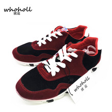 Buy WHOHOLL 2017 summer men casual shoes brand Breathable thick heel lace-up flat Shoes Male Student Youth Footwear jogging shoes for $16.13 in AliExpress store
