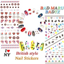 DS087 / DS088 Nail Design Water Transfer Nails Art Sticker Stars Flags Nail Wraps Sticker Tips Manicure nail supplies Decals