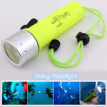 F38 Promotion Mini LED Diving Flashlight Waterproof Underwater Scuba Diver Torch Lights Lamp For Diving Lanterna Portable