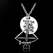 Hot Movie The Walking Dead Necklace Alloy Fighting The Death Fear The Living Pendant Jewelry With Chain Jewelry