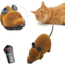 Wireless Simulation Plush Mouse Remote Control Cat Toys RC Electronic Rat Mouse Mice Toy For Pet Cat Toy