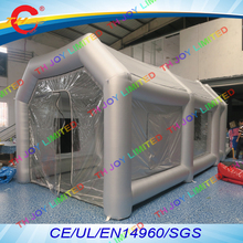 8x4x3m  Portable Mobile Work Station Car Painting Room / Inflatable Spray Booth / Inflatable Spray Paint Booth For Sale