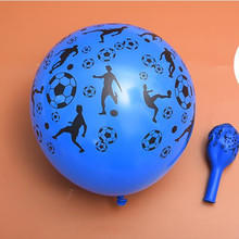 New!100pcs 2.8g 12inch Thickening Latex Balloons Soccer Print football Playing World Cup Birthday Festival Party Home Decor