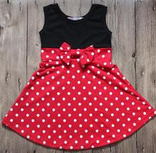 2018 Hallowee Girls Princess Dress New Mickey Party Red Dot Dress Elsa Aurora Girls Dress Kid Mermaid Minnie Cosply Dress(China)