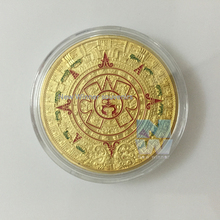 2012 Mayan Aztec prophecy gold coins Maya Calendar Gold Plated proof bullion art coin