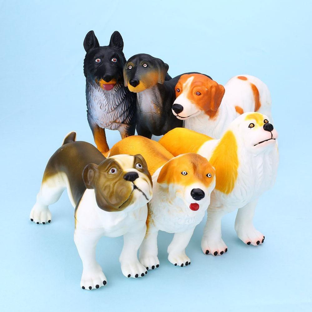 6Pcs Famous Dogs Teaching Toy Model Set Labrador Golden Retriever For Kids Child Action Figure Toys<br>