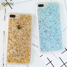 KISSCASE Rose Gold Foil Bling Paillette Sequin Cover For iphone 7 Phone Case For iphone 7 Plus Clear Soft TPU Gel Rubber Fundas(China)