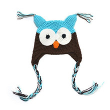 Low Price Baby Girl Toddler Owls Knit Crochet Winter Hat Beanie Cap baby winter Autumn hat newborn photography accessories(China)