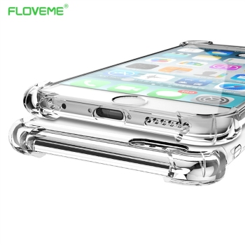 Floveme moda crystal clear tpu soft case para iphone 6 6 s 7 plus iphone6 6 s luxo clássico magro tampa do telefone transparente Capa