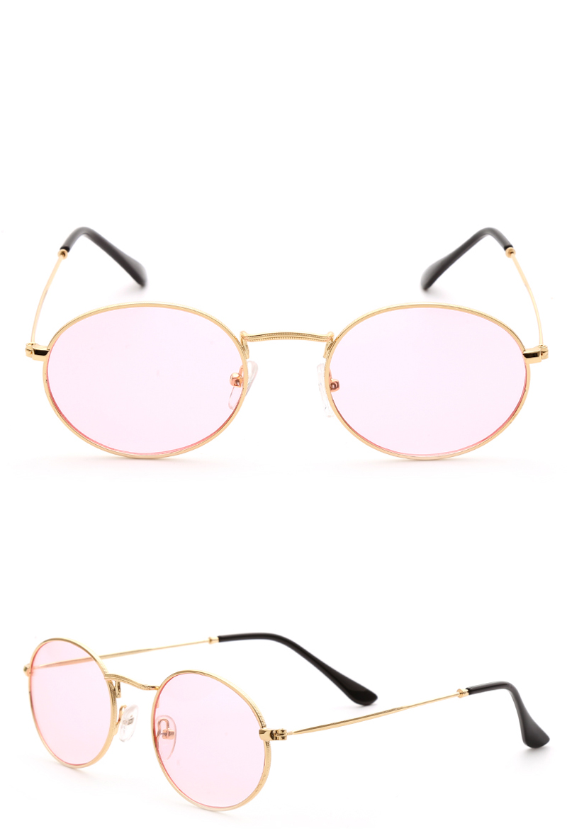 small oval sunglasses women red 0305 details (3)