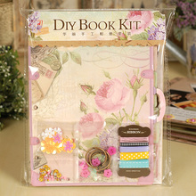 Foto album  Fashion Best Gift Diy Complete Scrapbook Kit For Family/friend/kid Themes Vintage Scrapbooking Photo Album