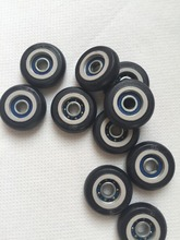20 Pics 5x23x7.5mm Nylon Small Deep Groove Ball Bearings Roller plastic pulley wheels with bearings for Door Windows