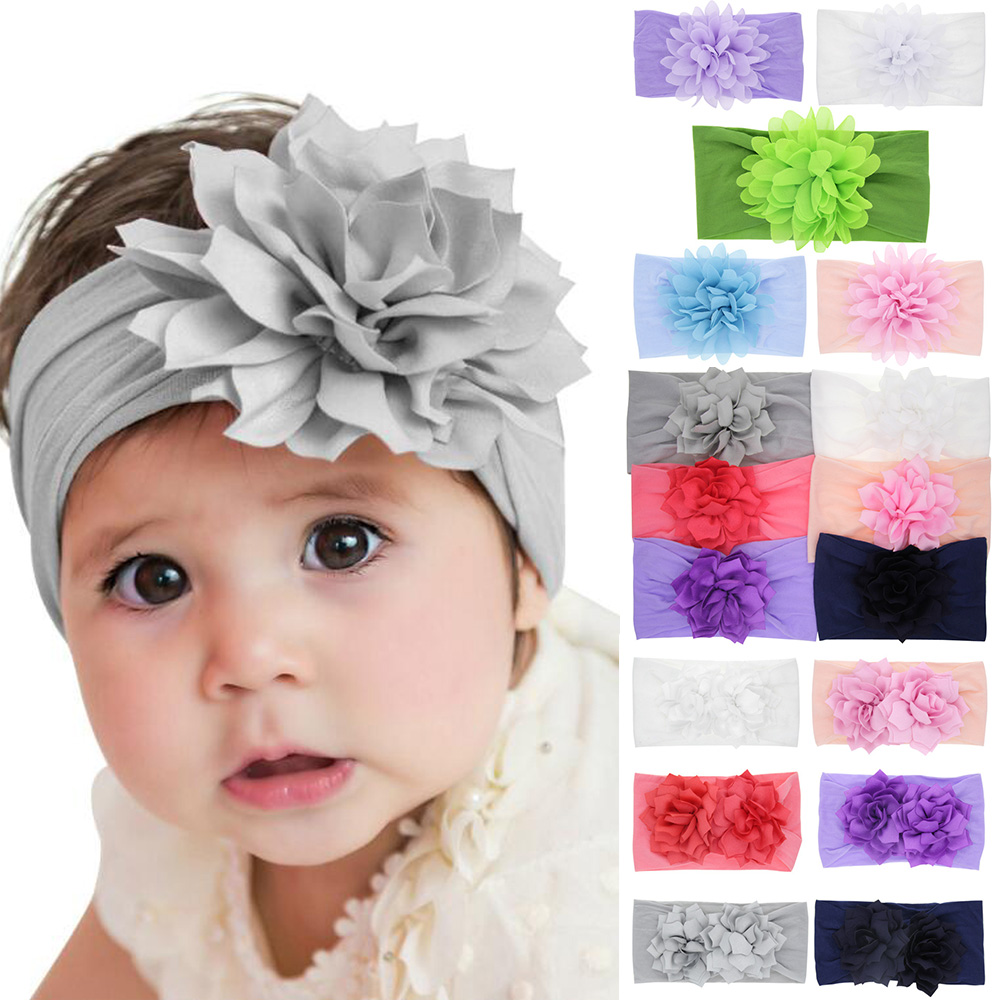 Lot of 7 Baby Toddler Girls Turban Braided Knot Lace Headbands Headwraps