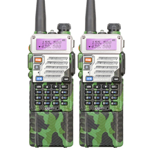 2PCS Original Oliver Green Military Dual Band Two Way Radio UV-5RE with 3800MAH Long Battery Army Walkie Takie