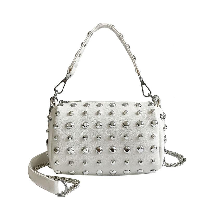 Women's Handbags Boston Bags Ladies Tassel Button Messenger Bags Leather Shoulder Bags Designer Bucket Bag Clutch Metal Pointed 36 Online shopping Bangladesh