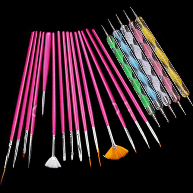 20pcsset Art Design Painting Tool Pen Polish Brush Set Kit