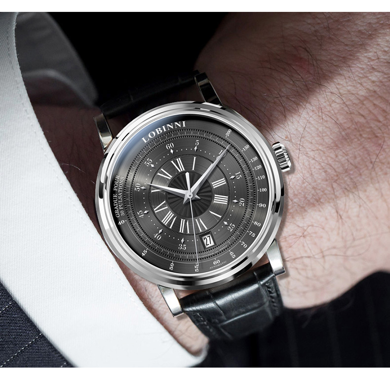 LOBINNI New Men Watches Top Luxury Brand Japan Import NH35A SII O Auto Mechanical MOVT Men's Clock Sapphire reloj hombre L1018-8 10